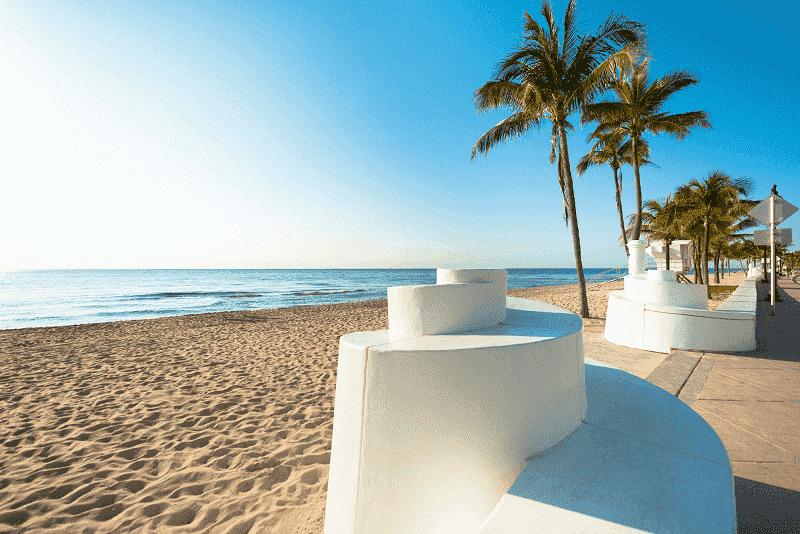 Praias em Fort Lauderdale em Miami