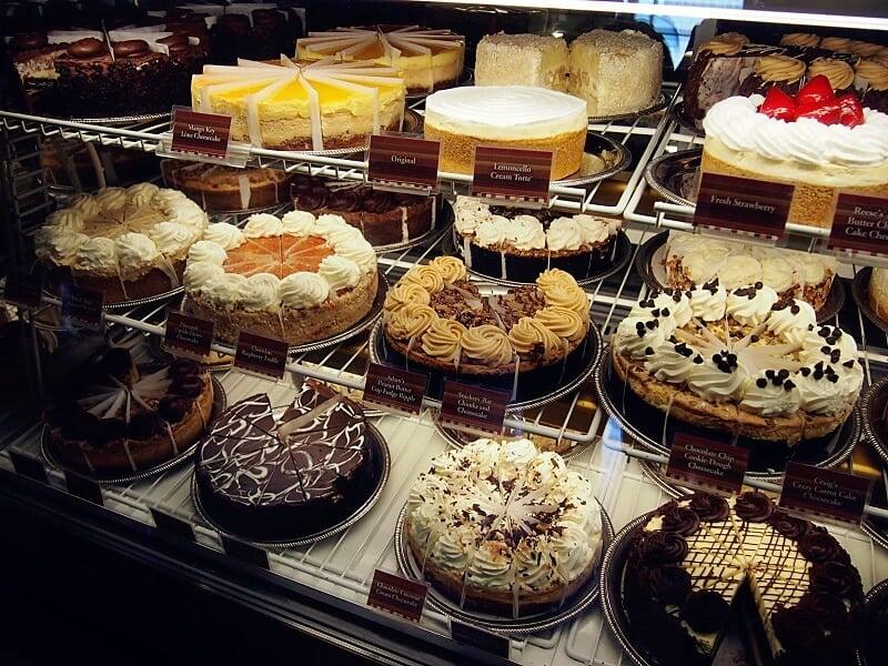 Bolos do Cheesecake Factory em Miami e Orlando