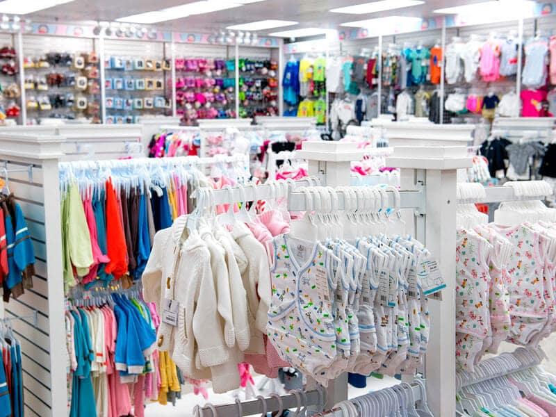 Loja Macro Baby em Orlando; roupas de bebê