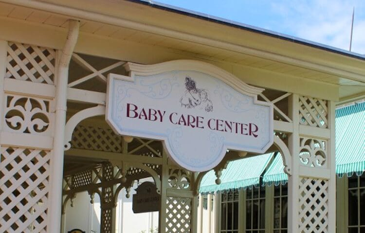 Baby Care Center para bebês nos parques Disney