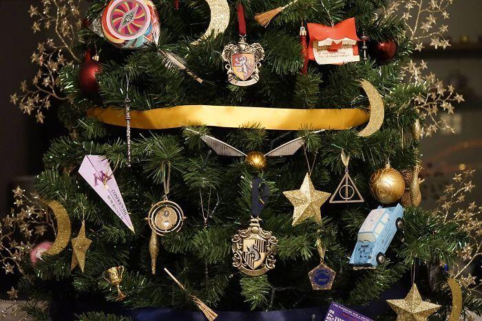 Natal do Harry Potter na Universal Orlando: Decoração de natal