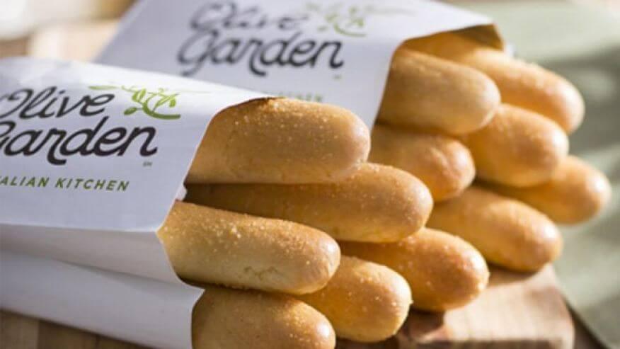 Baguete do restaurante italiano Olive Garden em Miami