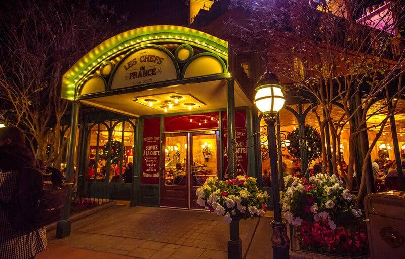 Entrada do restaurante Les Chefs de France no Disney Epcot Orlando