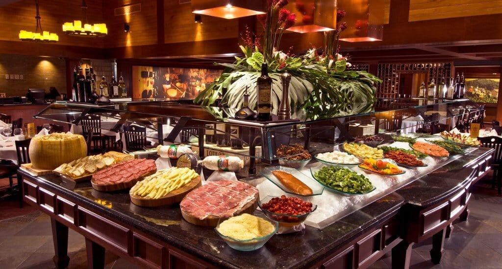 Buffet da Churrascaria brasileira Fogo de Chão em Orlando