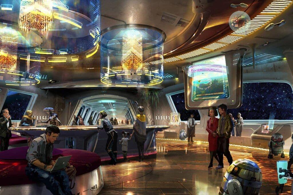 Área de lazer do Hotel de Star Wars na Disney Orlando