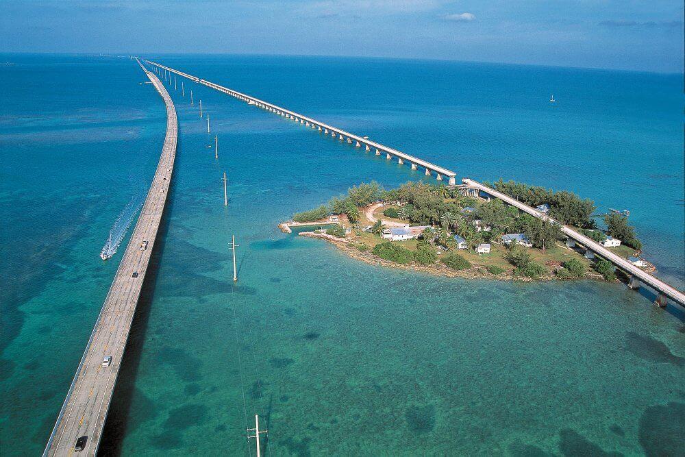 Estrada para Key West na Flórida