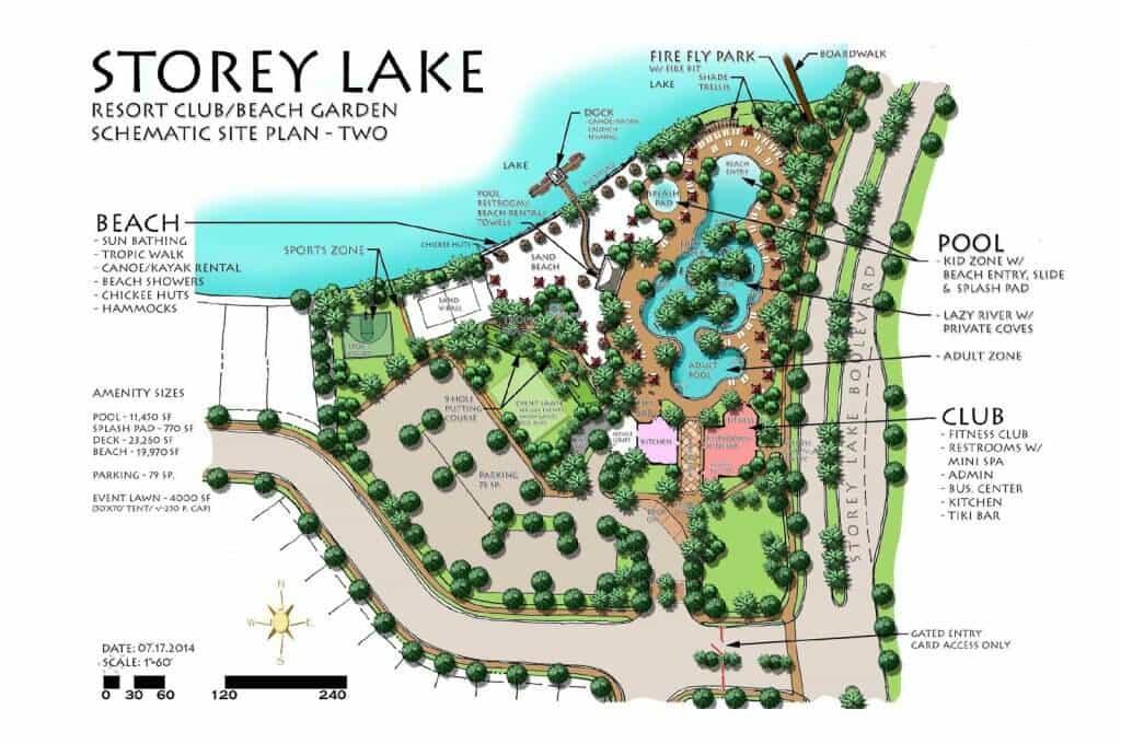 Mapa do condomínio Storey Lake Resort em Orlando