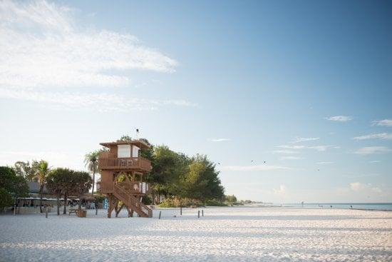 Playa de la isla Anna Maria en Florida