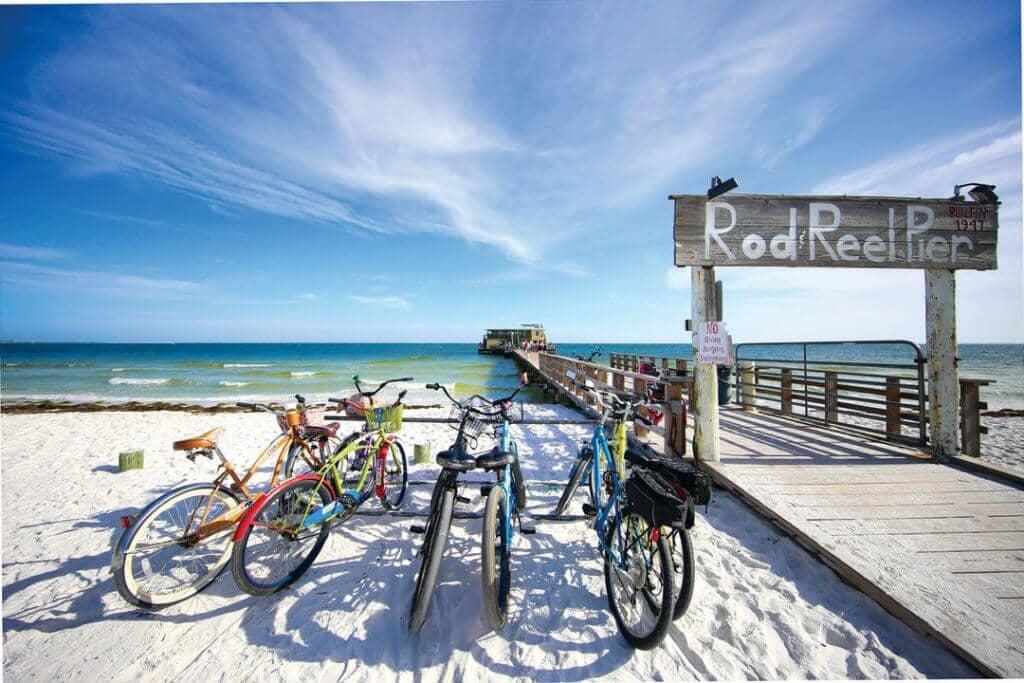 Playa de la isla de Anna Maria en Florida