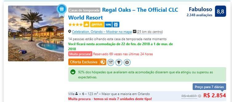 Hospedagem pelo Booking para Orlando e Flórida
