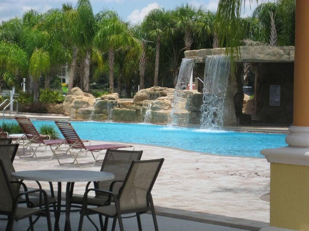 Piscina das casas Paradise Palms em Orlando