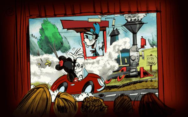 Desenho Mickey and Minnie's Runaway Railway na Disney Orlando