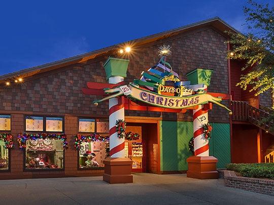 Entrada / Frente da Loja de natal Disney's Days of Christmas na Disney Springs Orlando