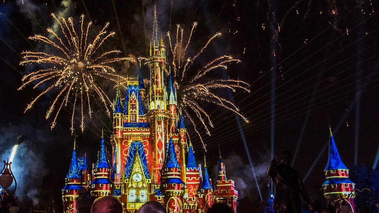 Show de queima de fogos do Magic Kingdom
