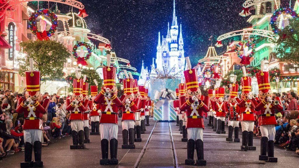 Mickey's Once Upon a Christmastime Parade na Disney em Orlando