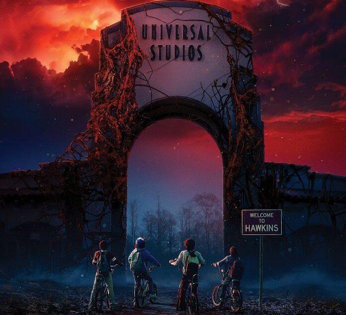 Stranger Things no Halloween da Universal Studios em Orlando