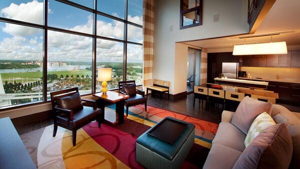 Villa do hotel da Disney Bay Lake Tower no Contemporary Resort
