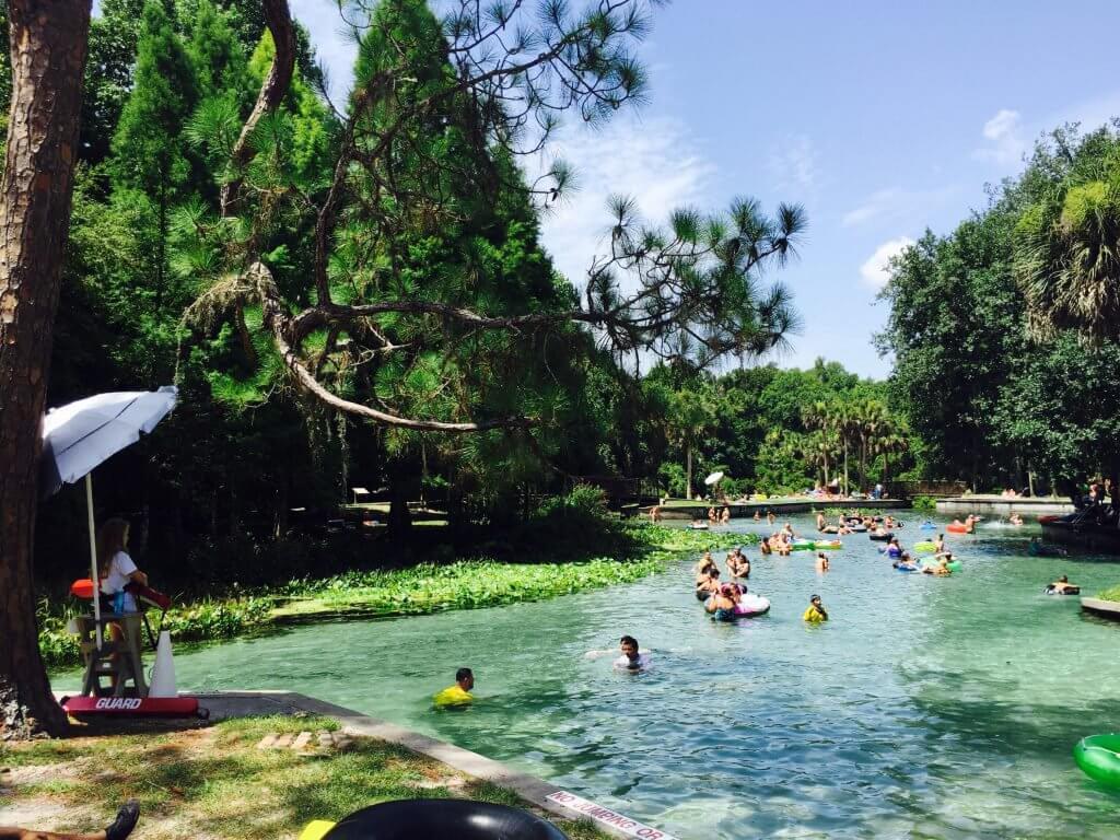 Passeio pelo parque natural Kelly Park perto de Orlando
