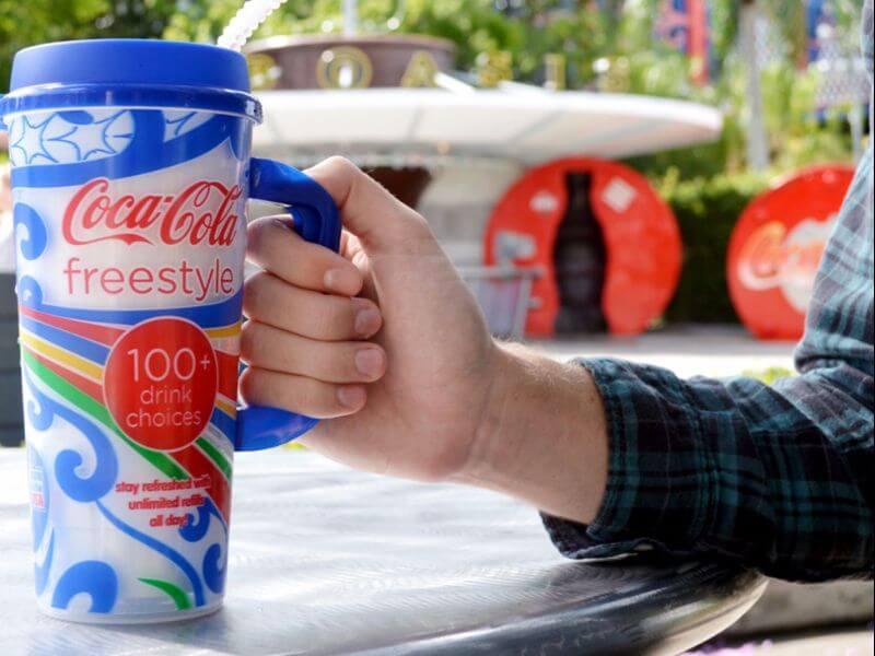 Copo Coke Freestyle na Universal Orlando
