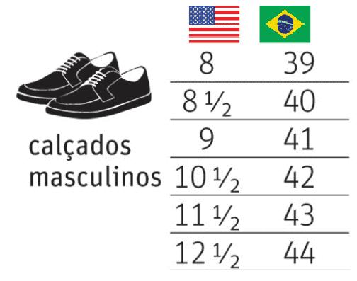 Onde comprar sapatos masculinos em Orlando: tamanhos