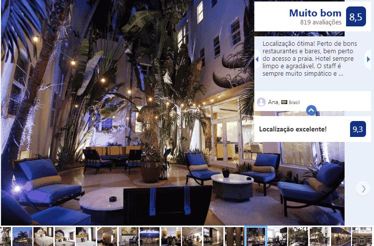 Room Mate Lord Balfour em Miami Beach: área externa