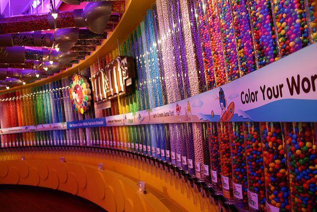Onde comprar chocolates e doces em Orlando: Loja M&M's World Orlando