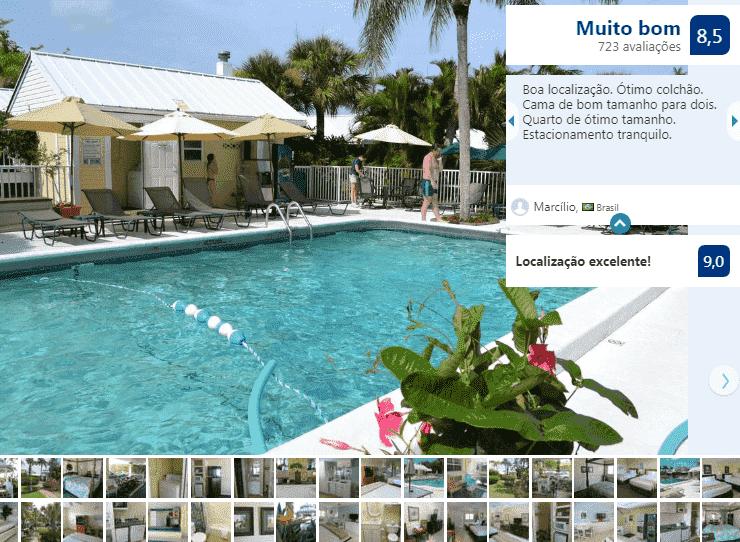 Hotel Lemon Tree Inn em Naples na Flórida: piscina