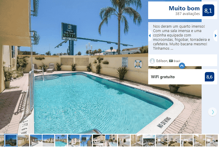 Naples Park Central Hotel: piscina