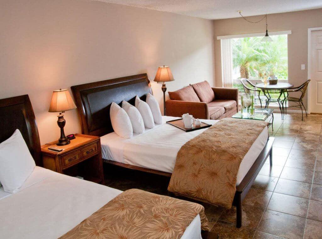 Hotéis bons e baratos em Boca Raton na Flórida: Quarto do Hotel Ocean Lodge em Boca Raton
