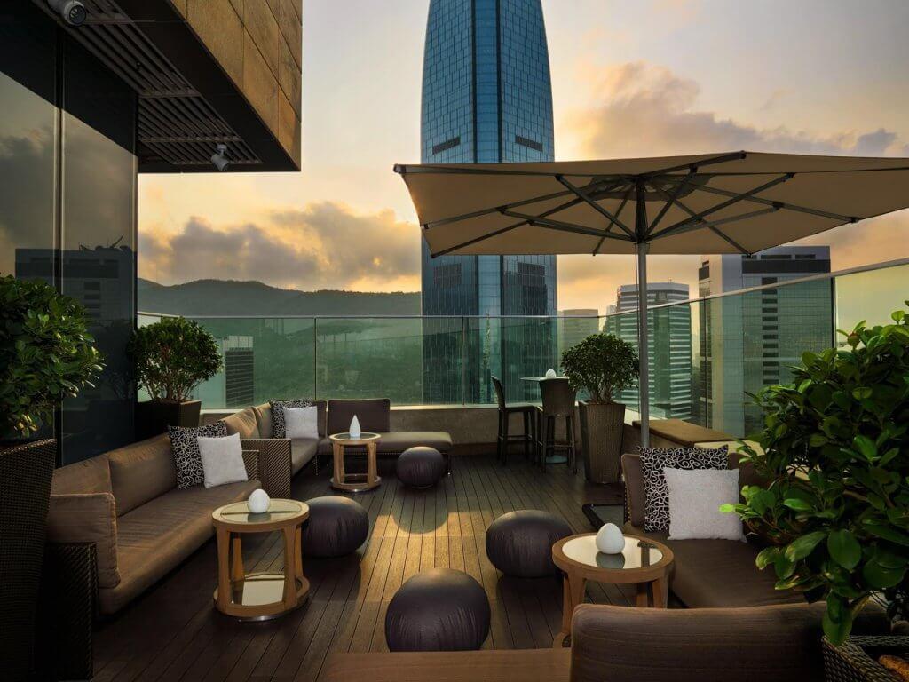 Bar com rooftop em Miami