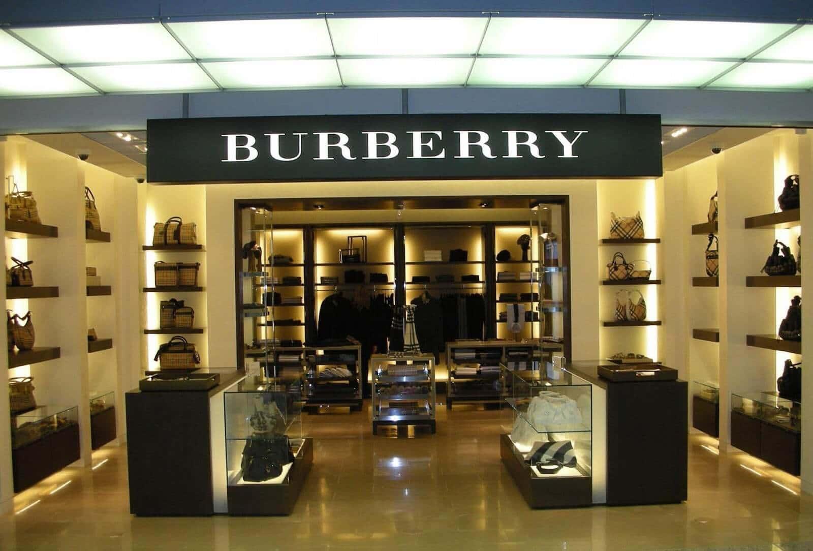 Loja Burberry em Miami e Orlando