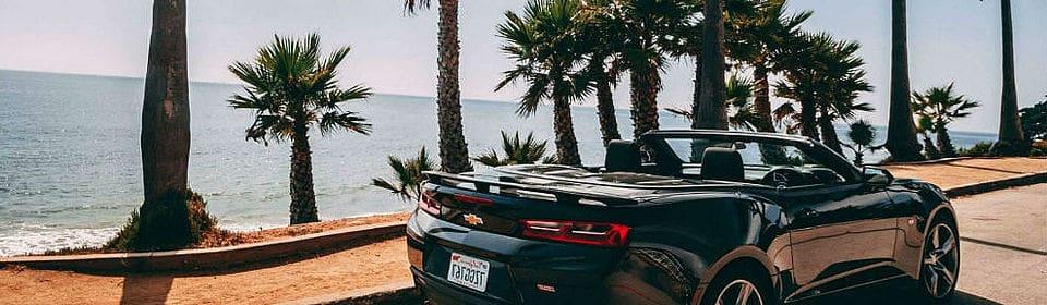 Conduciendo por las playas de la costa oeste de Florida