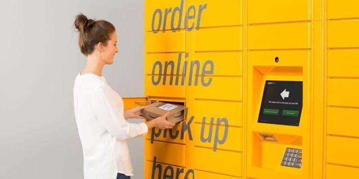 Retirando suas encomendas no Amazon Locker