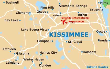 Mapa Orlando - Kissimmee