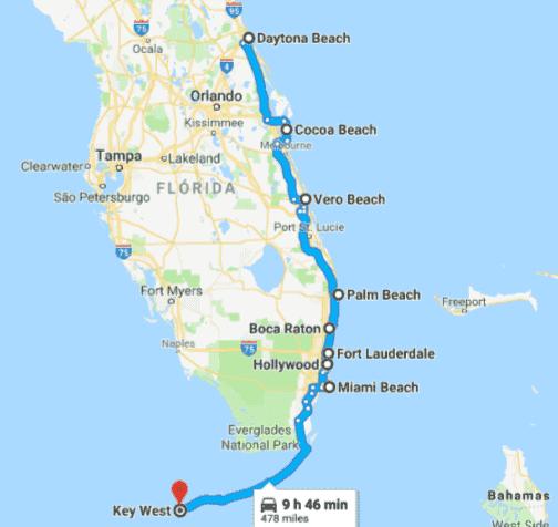Roteiro de praias pela costa leste da Flórida
