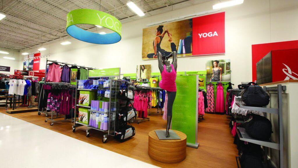 Lojas de marcas esportivas em Orlando: departamento