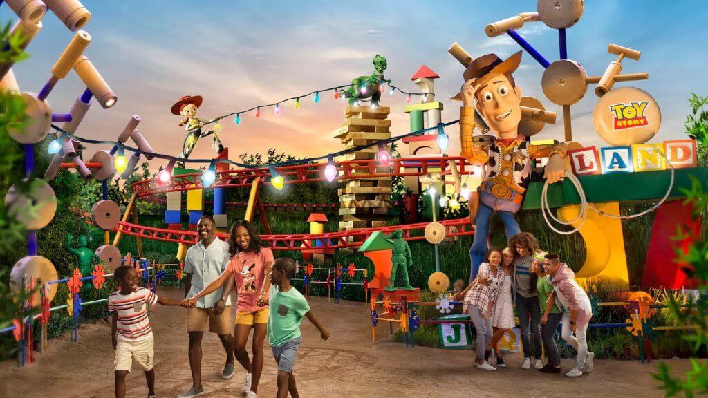 Área Toy Story Land na Disney em Orlando
