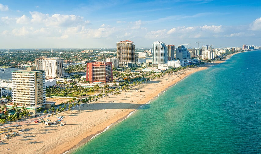 Cidades legais perto de Miami: Fort Lauderdale na Flórida