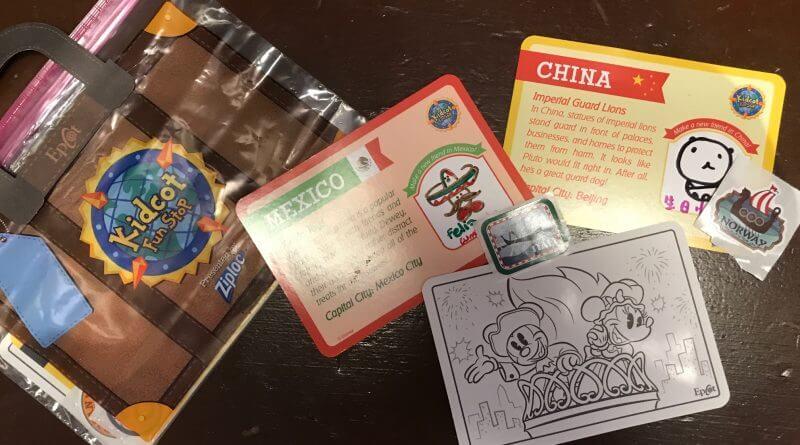Cartões e adesivos dos países para colecionar no Disney Epcot