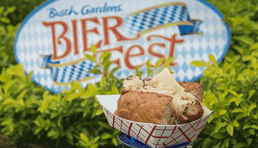 Lanches do Bier Fest no Busch Gardens