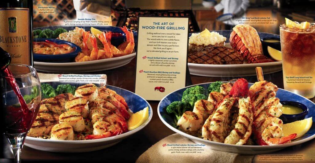 Detalhes do restaurante Red Lobster em Miami e Orlando