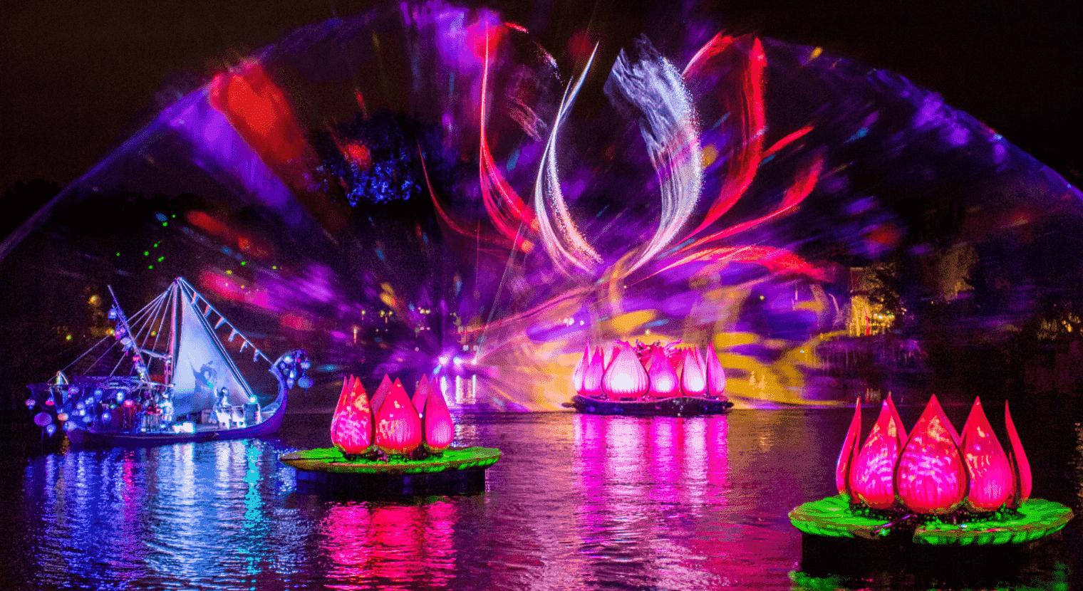 Buffet de sobremesas do show Rivers of Light na Disney