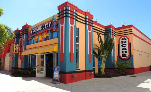 Arcade City no Icon Orlando 360 - entrada
