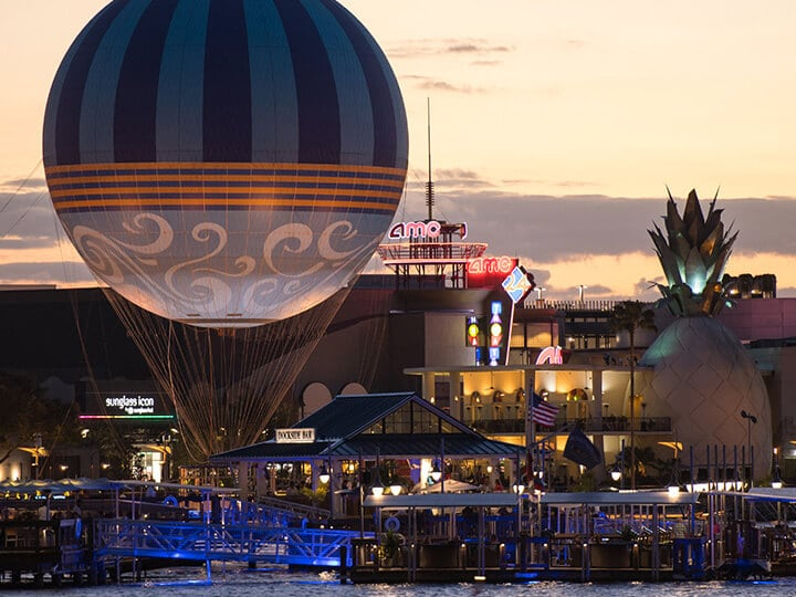 Passeio de balão em Disney Springs Orlando