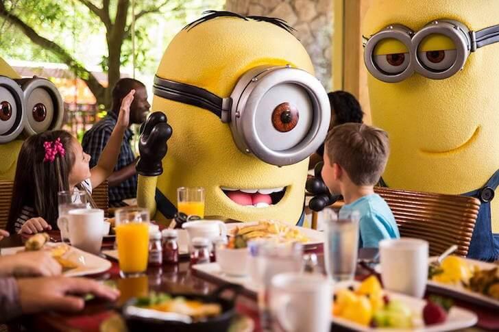 Minions: Café da manhã na Universal Orlando