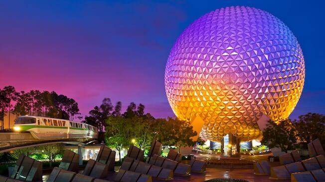 Mapa do Parque Epcot Center da Disney em Orlando