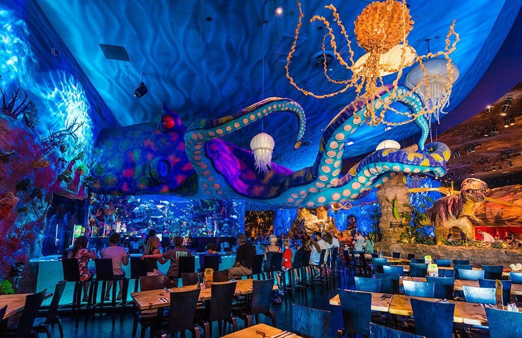 Restaurante T-Rex do Disney Springs em Orlando