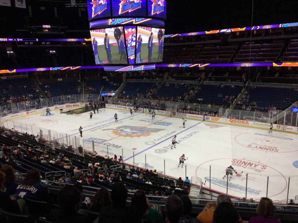 Amway Center: Jogos de hóquei em Orlando