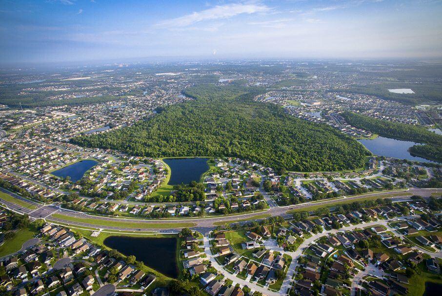 Vista aérea de Kissimmee