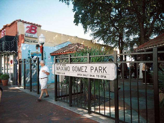 5 destaques da Calle Ocho de Litte Havana em Miami: Parque Maximo Gomez em Miami